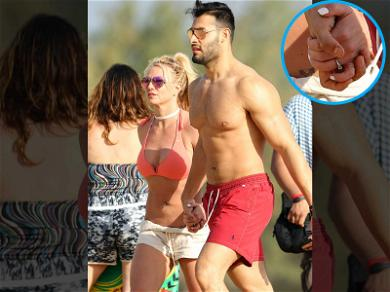 Britney Spears Rockin' a Ring with Sam Asghari … Is She Engaged?!
