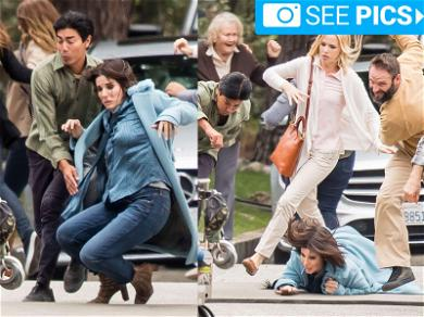 Sandra Bullock Gets Trampled in the Suburbs for New Movie