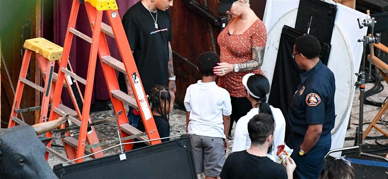 Amber Rose's Baby Daddy 'AE' Playing Stepdad to Wiz Khalifa's Kid