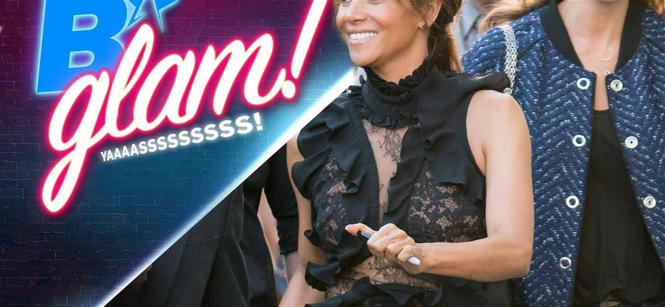 Halle Berry Turns a Back Alley into a Catwalk