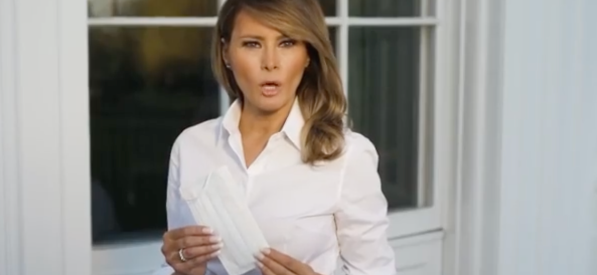 FLOTUS Melania Trump Sends Fans Into Frenzy While Showing Off Mask