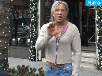 Mickey Rourke Defends Sly Stallone: 'He's Not That Kind of Guy'