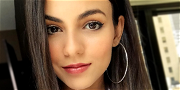 Victoria Justice Stays Bombshell Breezy On A Pink-Bra Bike Ride