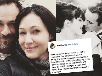 Shannen Doherty Breaks Her Silence on Luke Perry's Death: 'Processing This Is Impossible'
