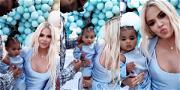 Tristan Thompson Seen at True's 1st Birthday with Khloé Kardashian