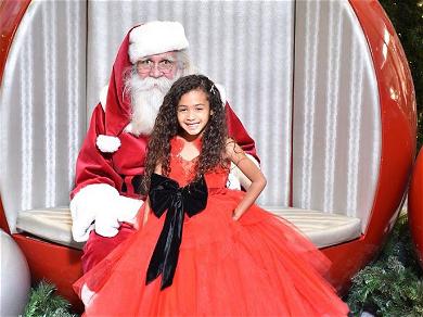 Chris Brown's Daughter Royalty Beams With Santa In New Christmas Pics!