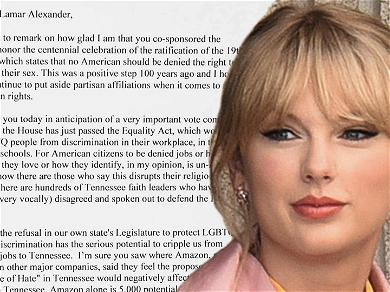 Taylor Swift Pleads With Tennessee Senator to Support Equality Act in Open Letter