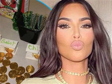 Kim Kardashian Complains Kid's 'Leprechaun Trap' Stained Her Stone Table
