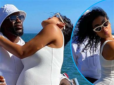 Kevin Hart's Wife Eniko Playfully Sticks Out Pregnancy Curves For His 41st Birthday