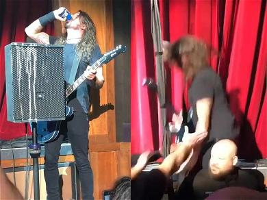 Dave Grohl Chugged a Bud Light and Fell Off Stage While Performing at CES