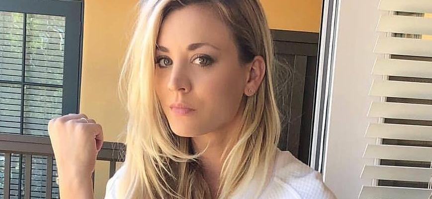 Kaley Cuoco Stuns Wet-Haired In Only A Hoodie