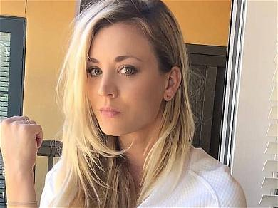 Kaley Cuoco Takes Care Of Business In Donkey Socks