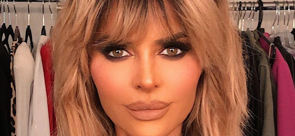 Lisa Rinna Challenged With Hiked-Up Leg In Undies And Stilettos