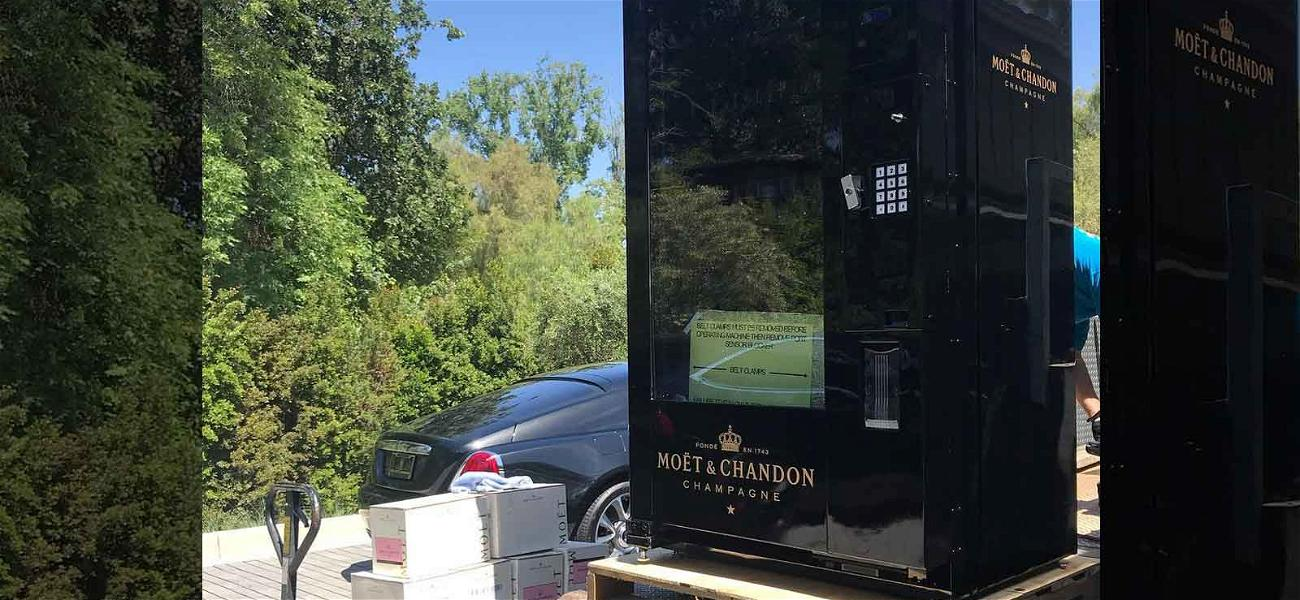 Kris Jenner Gets First Ever 'All-Black' Champagne Vending Machine