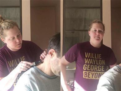 Amy Schumer Gives Husband A Quarantined Haircut: 'Anyone Else At This Moment?'