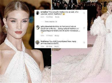 Rosie Huntington-Whiteley Under Fire for Wearing 20,000 Ostrich Feathers at Met Gala