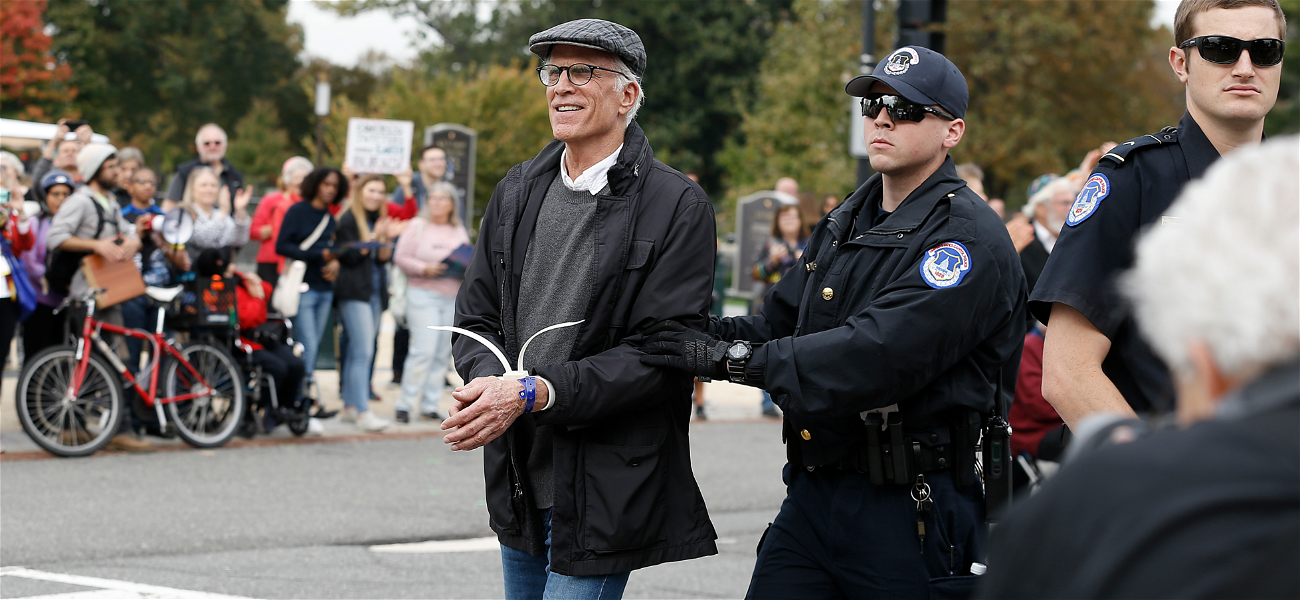 'Good Place' Star Ted Danson Arrested With Jane Fonda During Protest