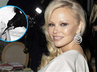 Pamela Anderson Kisses A Horse In Nude Throwback Photo