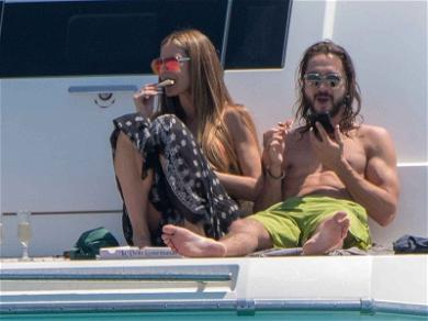 Heidi Klum Cannes Get Pizza Delivery, Even on a Yacht ?