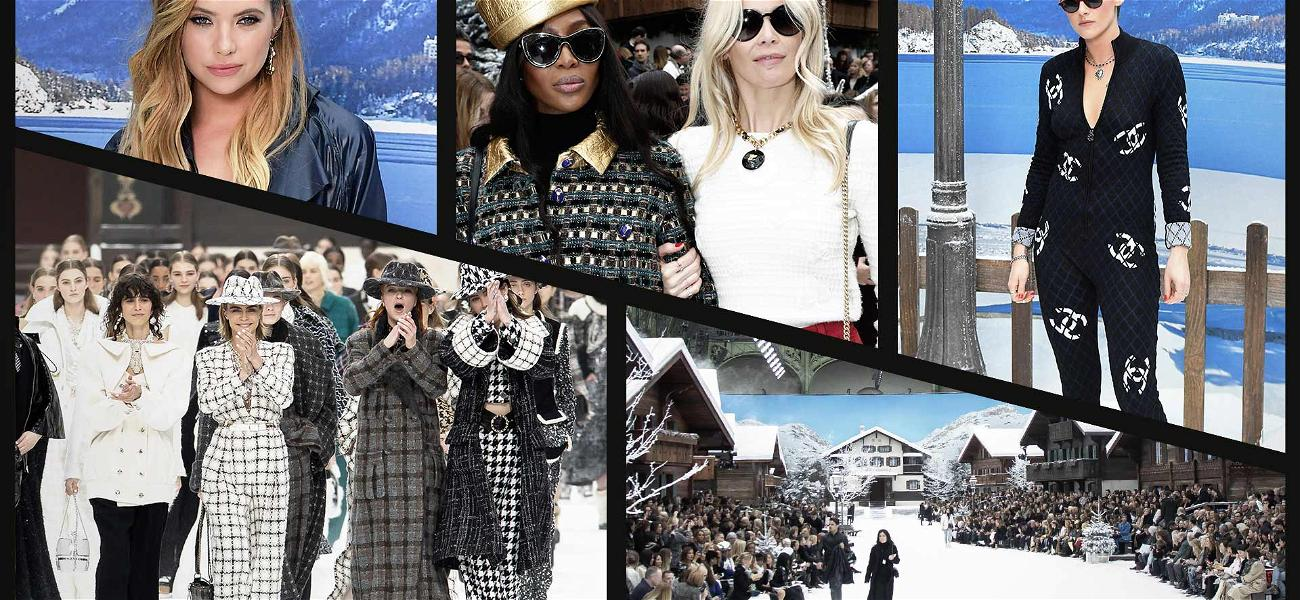Penelope Cruz, Naomi Campbell and Cara Delevingne Have Moment of Silence for Karl Lagerfeld During Chanel Show