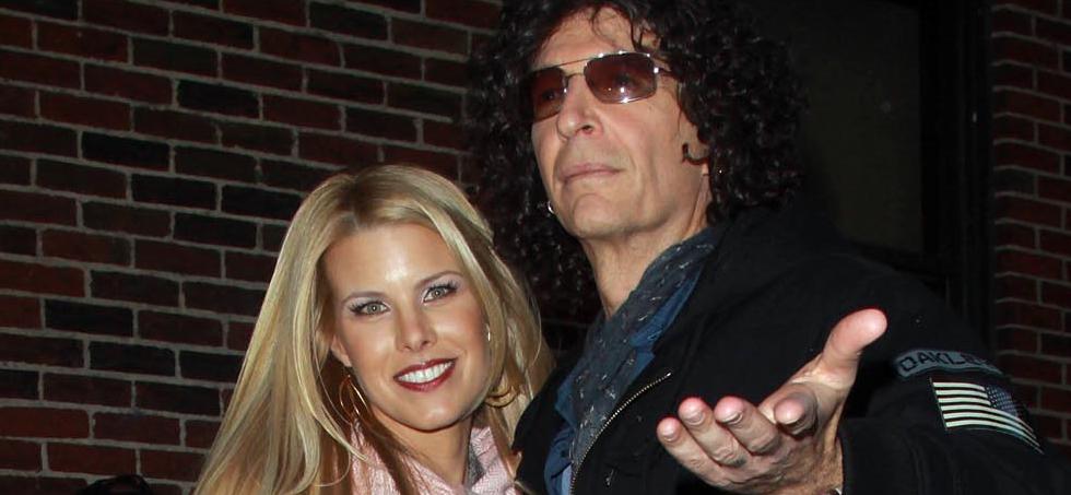 Howard Stern's Wife Beth Kisses Frowny Face Howard Doll