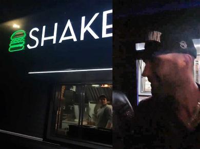 Adam Levine Fills Up On Shake Shack Following Shirtless Super Bowl Halftime Show