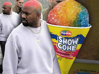Kanye West's Head Looks Like a Melting Snow Cone