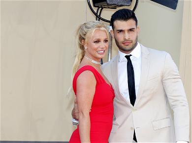 Britney Spears Gets Snakey In Golden Crop Top Before Dinner Date