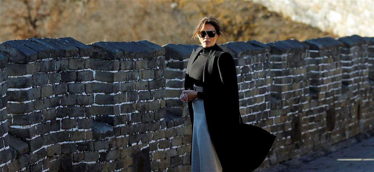 Melania Trump Scales 'The Wall' in China