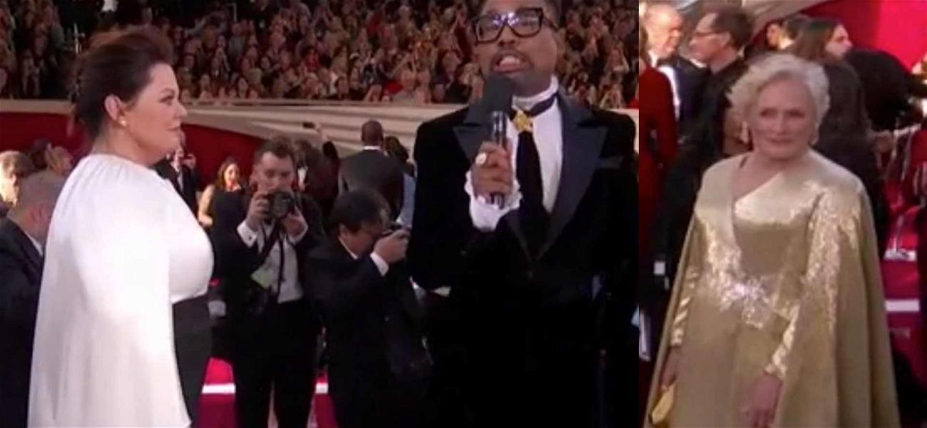 Glenn Close Taking in Melissa McCarthy's Oscar Look is EVERYTHING