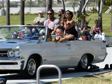 'Jersey Shore' Cast Poses in Classic Car For Photoshoot