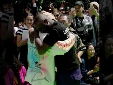 Kanye West Breaks Down in Tears With Virgil Abloh at Louis Vuitton Show