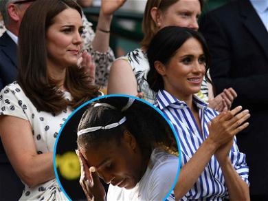 Meghan Markle & Kate Middleton Watch Serena Williams Take a Royal 'L' at Wimbledon