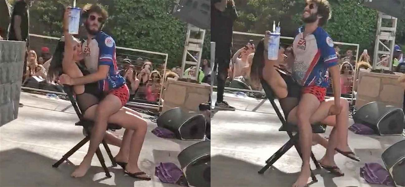 Lil Dicky Lives Out Rap Dream, Grinds Chick Onstage at Vegas Pool Party