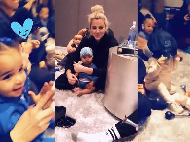Khloé Kardashian Goes to Mommy and Me Class With True While Famous Cousins Go With Nannies