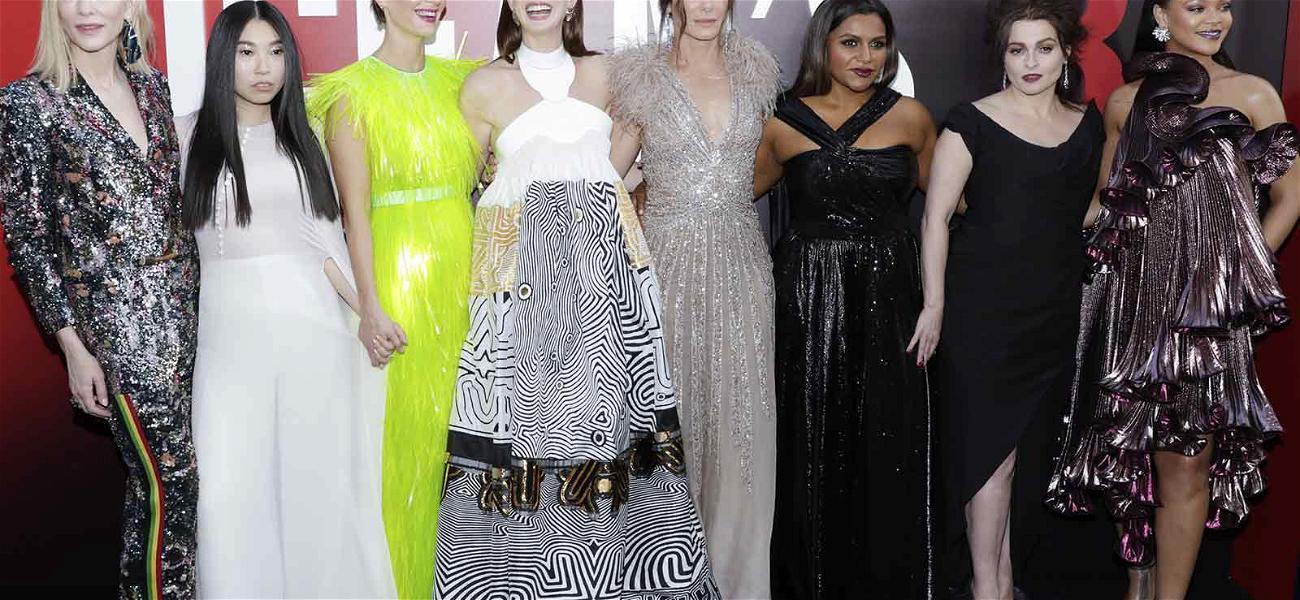 Rihanna, Mindy Kaling & Sandra Bullock Shimmer at 'Ocean's 8' Premiere