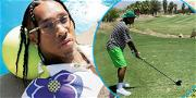 Check Out Tyga Woods' First Time Playing Golf! He's Flexin' On Other Golfers With Diamond Piaget Watch!