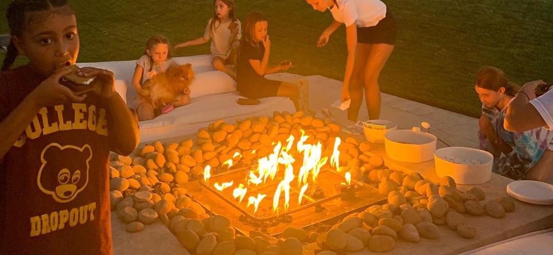 Kourtney Kardashian Throws Backyard Campout For Kids Amid Kanye & Kim's Possible Divorce