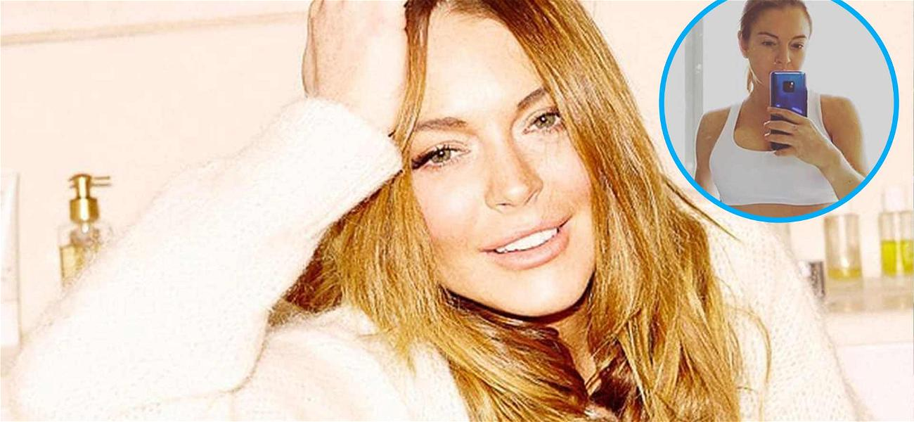 Lindsay Lohan Shows Off Tight Yoga Bod Selfie To Start Her Day