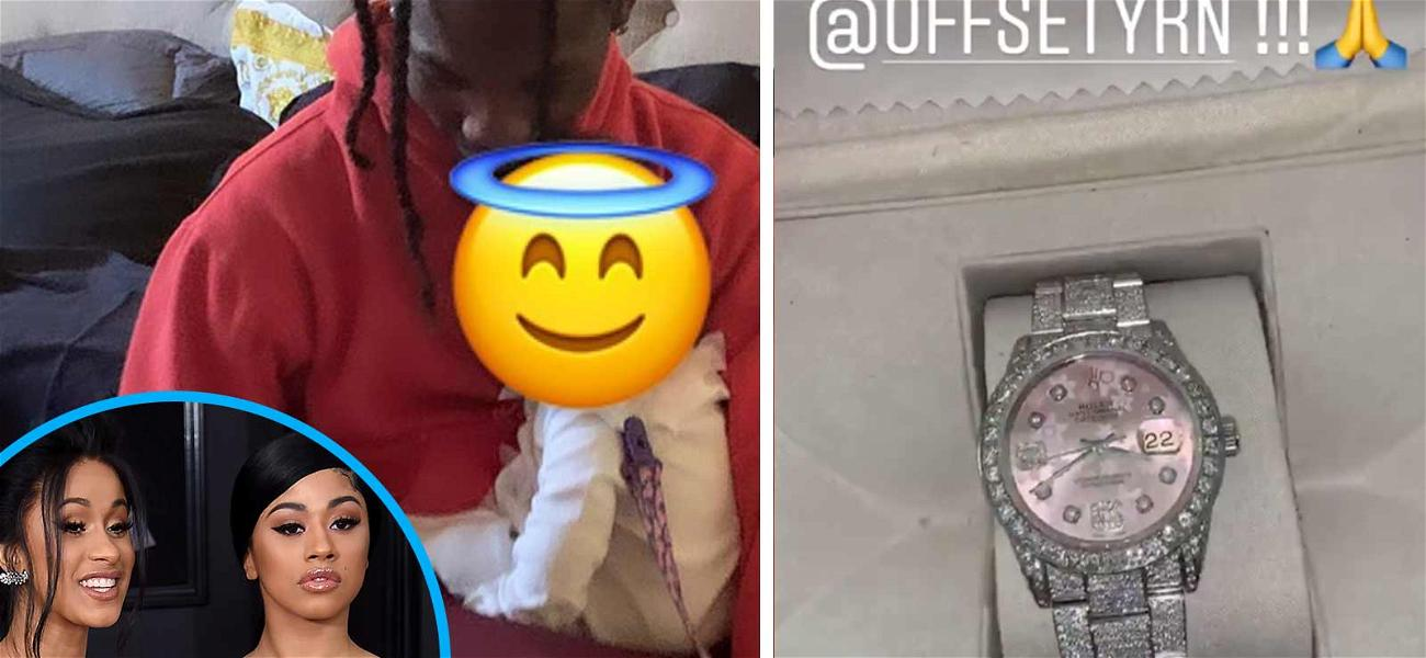 Offset Spends Time With Kulture After Gifting Cardi B & Sister Lavish Presents