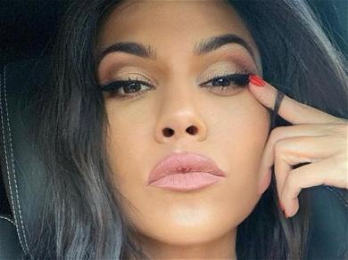 Kourtney Kardashian Inhales Apple Pie Without Clothes From Floor