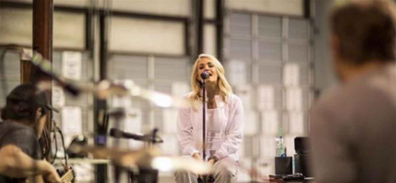 Carrie Underwood Faces the Music While Rehearsing For ACM Awards