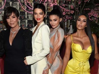 Kim Kardashian Runs New York in Versace With Fashionable Mom and Sisters