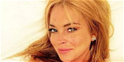 Lindsay Lohan Is Marilyn Monroe Wearing Nothing But Red Lipstick