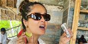 Salma Hayek Gets Reflective During Curvy Sunday Selfie