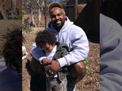 Kanye West Is All Smiles on Family Trip to the Zoo