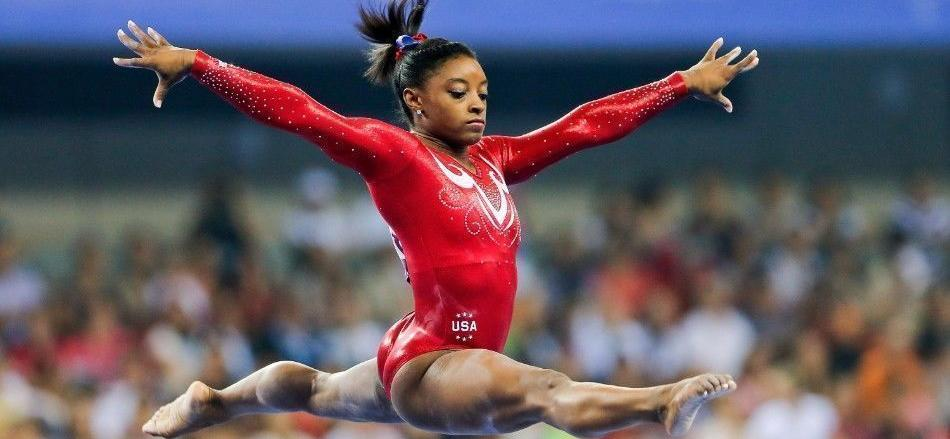 Simone Biles Flashes Chest Piercing In Skimpy Couch Selfie