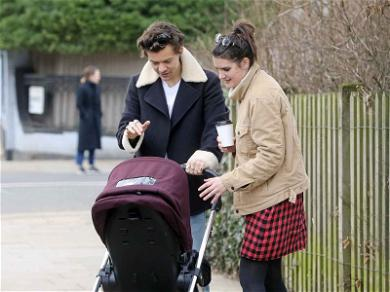 Harry Styles Pushes Around a Baby Stroller and Our Hearts Melt