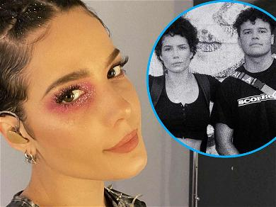 Halsey Shares Rare Snap With Younger Brother To Praise Him For 'Finding His Voice'
