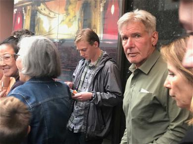 Even Harrison Ford Has to Wait in Line to See 'Hamilton'